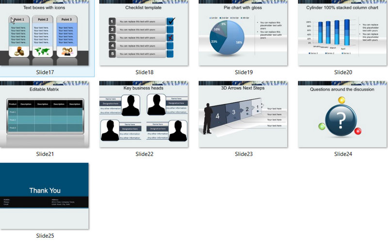 PowerPoint Finance Building Template 02