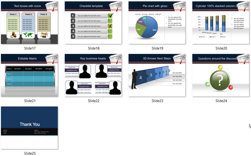PowerPoint Market Intelligence Template 02