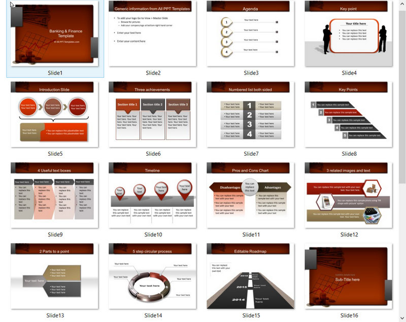 PowerPoint Money Discussion Template 01