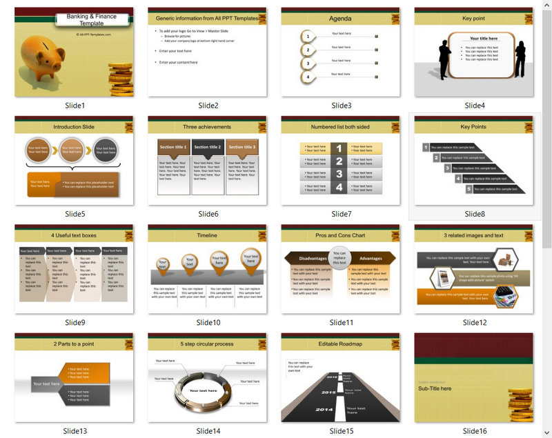 PowerPoint Banking Savings Template 01