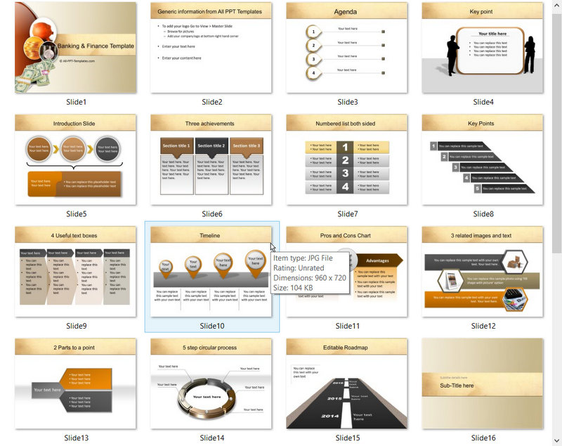 PowerPoint Basic Banking Services Template 01