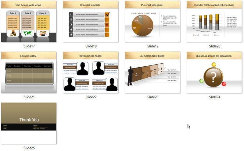 PowerPoint Basic Banking Services Template 02