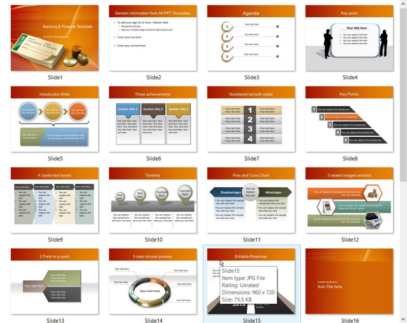 PowerPoint Banking Check Template 01