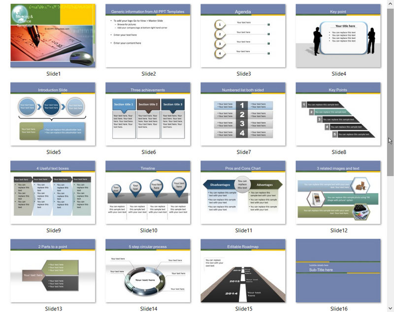 PowerPoint Online Banking Template 01