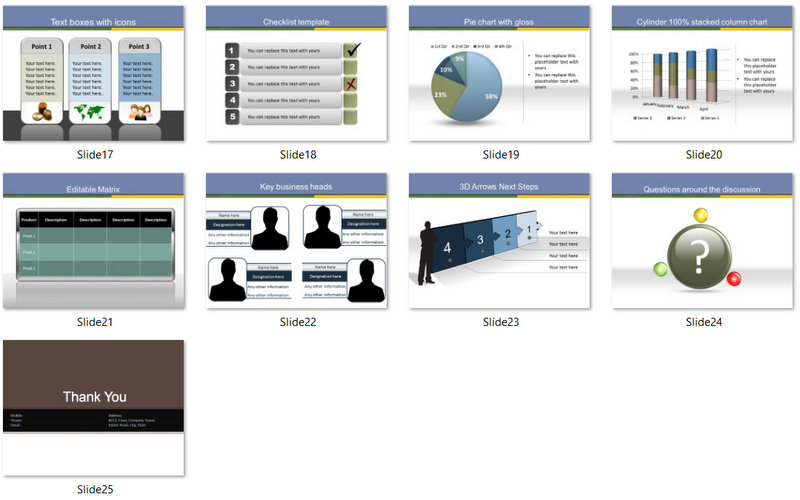 PowerPoint Online Banking Template 02