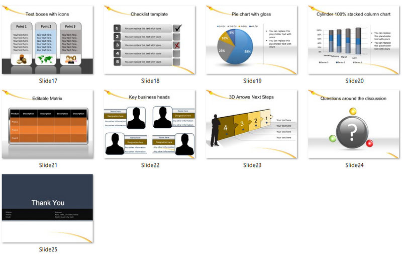 PowerPoint Simple Accounting Template 02