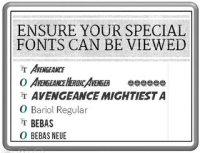 Embed Special Fonts
