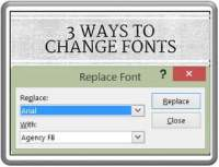 3 Ways to Replace Fonts