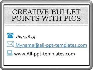 Creative Bullet Points