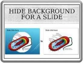 Hide Background for a Slide