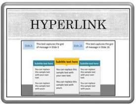 Hyperlink Slides