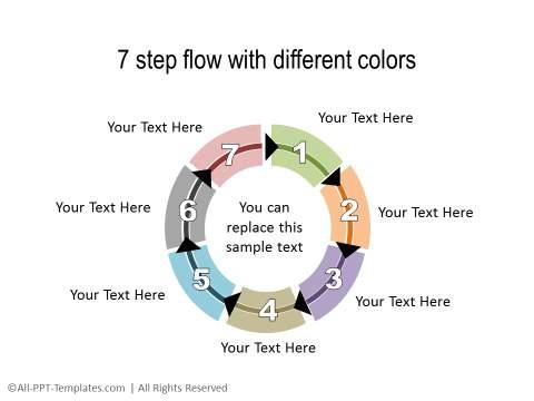 PowerPoint Circular Flow 13