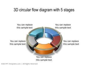 PowerPoint 3D Circle 09