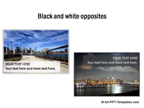 Black and White opposites