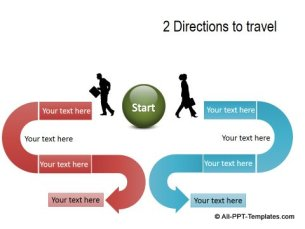 PowerPoint Opposite Directions Template 12
