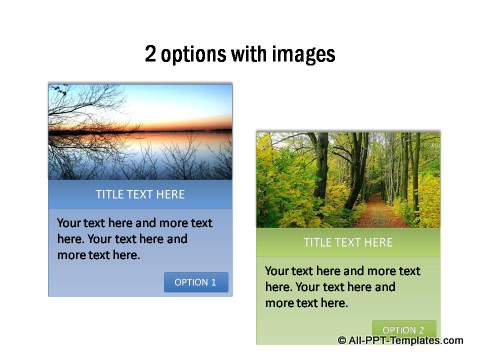 2 options with images