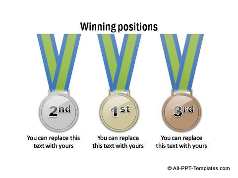 3 medals for winners