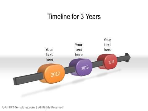 PowerPoint Linear Timeline 28