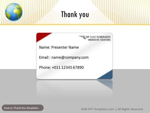 Corporate Presentation Thank You Slide : After
