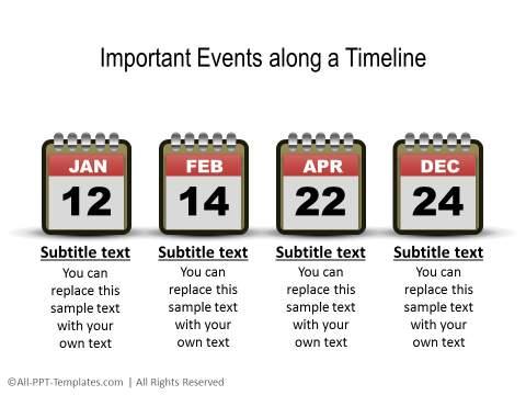 PowerPoint Linear Timeline 26