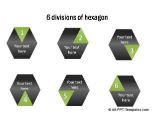 PowerPoint infographic Hexagon