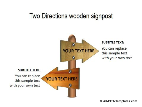 PowerPoint Opposite Directions Template 10