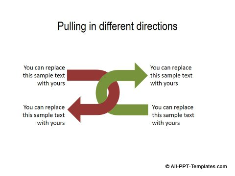 PowerPoint Opposite Directions Template 14