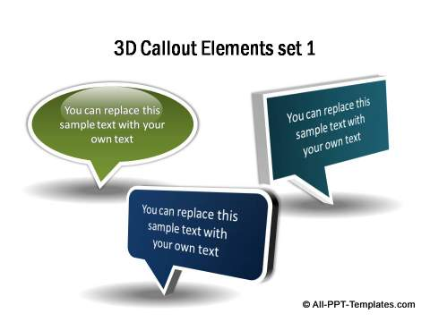 3D Callout Elements Set 1