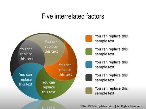 PowerPoint Segmented Circle Shape