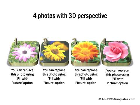 4 photos with 3D perspective and descriptive text