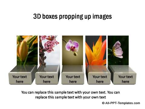 3D Boxes as image stands