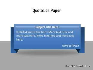 Quote highlighted on origami paper