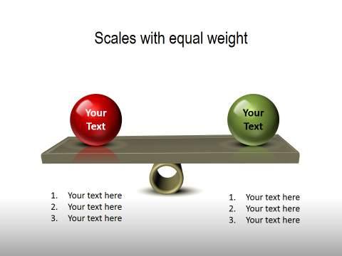 PowerPoint comparison scales