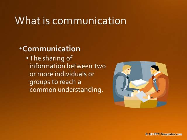 PowerPoint Training Definition Slide : Before