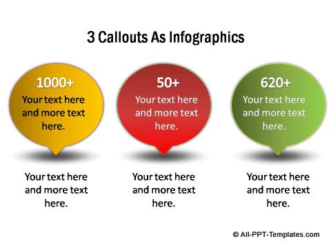 Infographic style callout design
