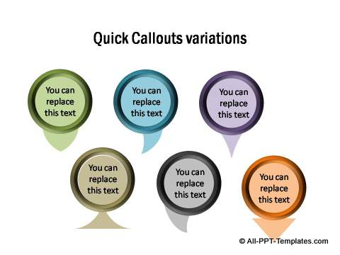 Quick callout variations