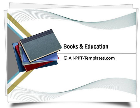 PowerPoint Books and Education Template