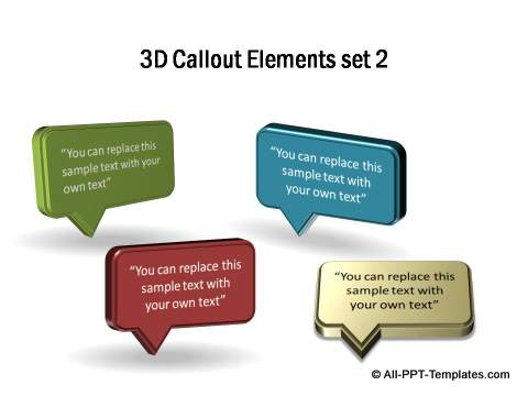 3D Callout Elements Set 2