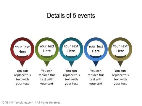 PowerPoint Linear Timeline 13