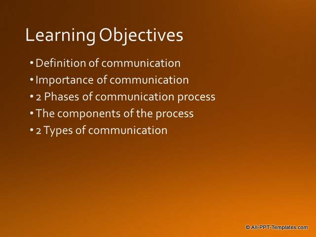 PowerPoint Training Objective Slide : Before