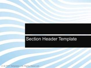 Section Header Template