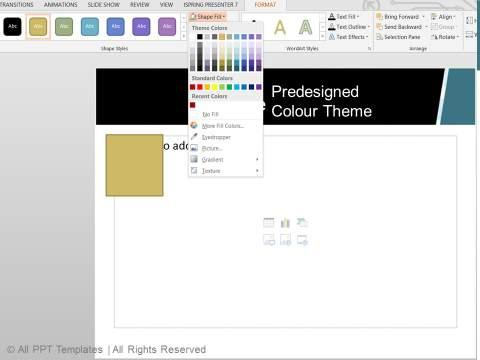 Professional Predesigned Color Theme