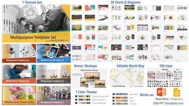 Multipurpose PowerPoint Templates Set