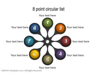 Circular Lists for 8 points
