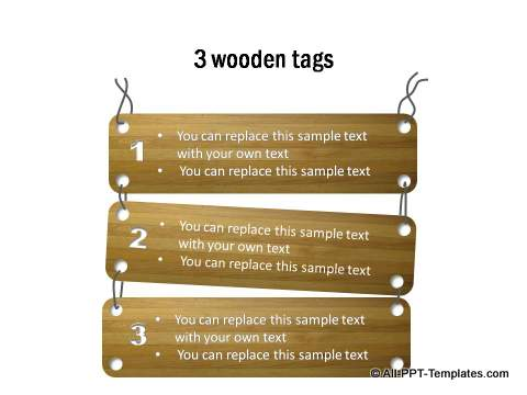 Wooden Text Tags