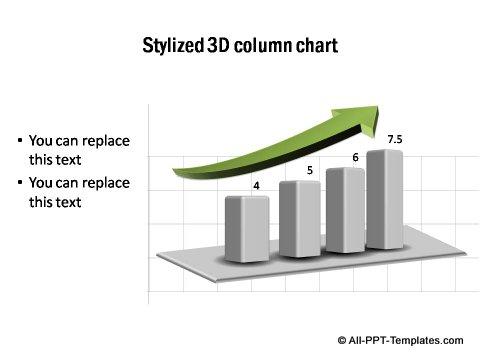 Stylized Column Chart