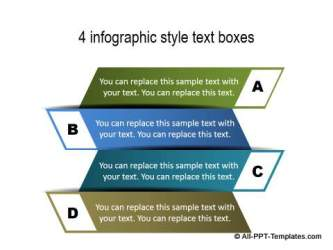4 Infographic style text boxes