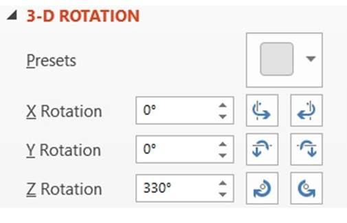 PowerPoint 3D Rotation Menu