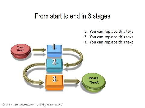 PowerPoint 3D Process Diagram