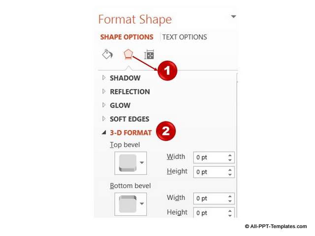 3D option in PowerPoint 2013
